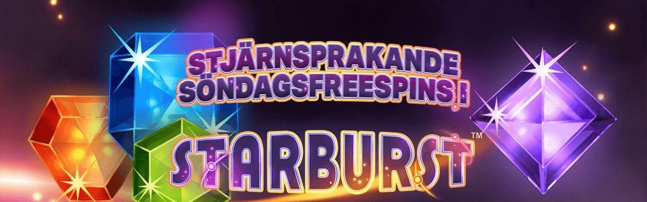 Starburst bjuder in till free spins i starburst