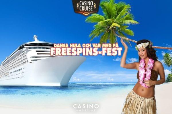 Casinocruise strand och kryssningsfartyg med huladansare