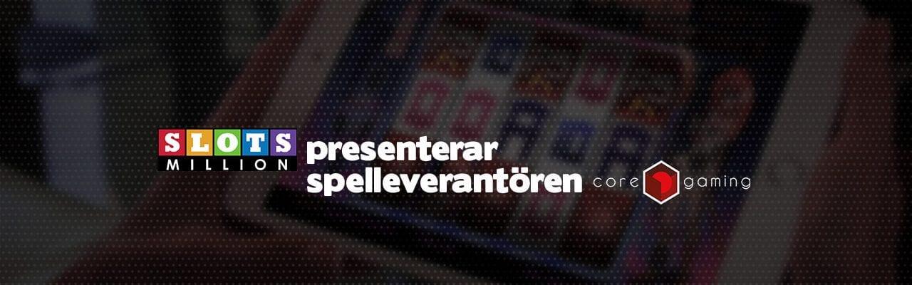 Slotsmillion presenterar ny spelleverantör Cor gaming