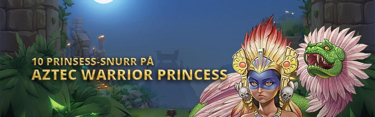 Mobilebet kampanjsida banner Aztec Warrior Princess