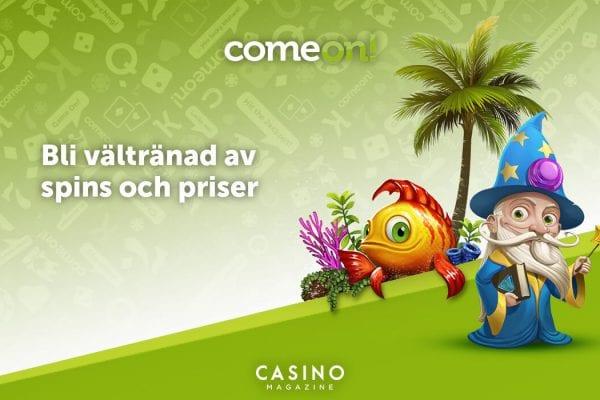 Free spins och priser hos ComeOn