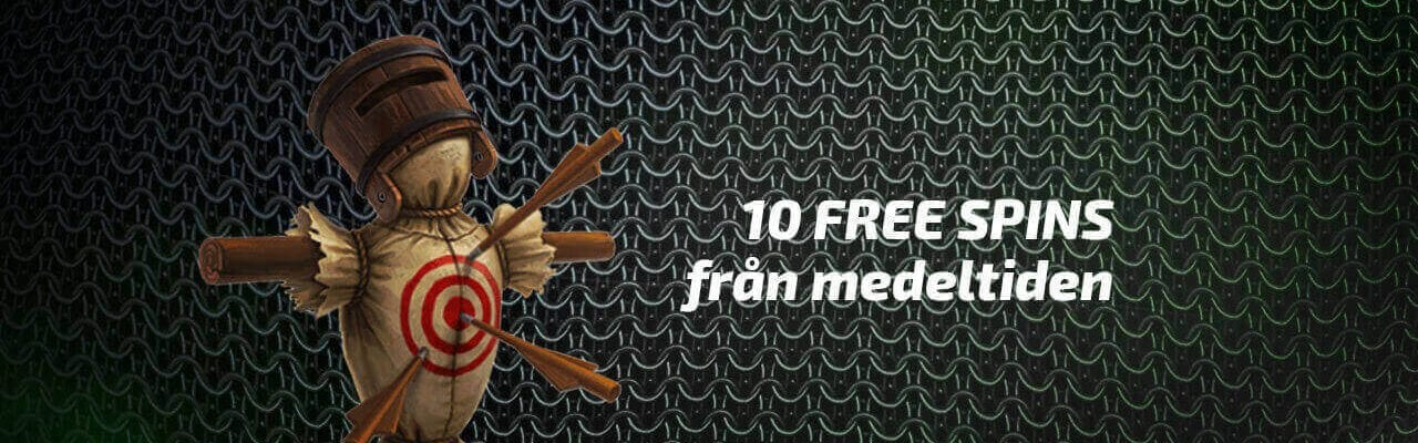 Medeltida free spins hos Mobilebet