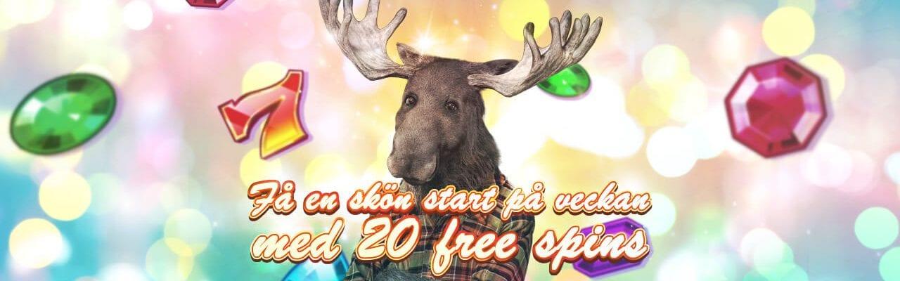 20 free spins hos Casinostugan