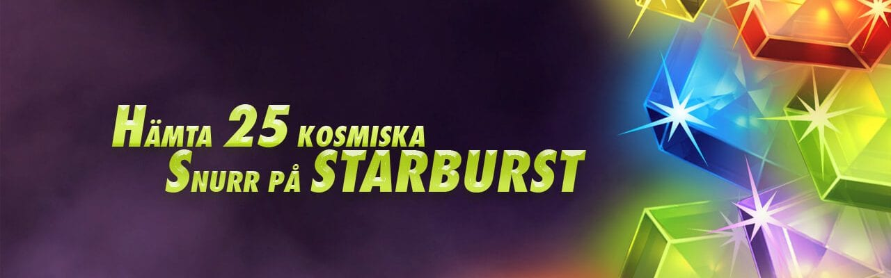 BetClick 25 spins på Starburst