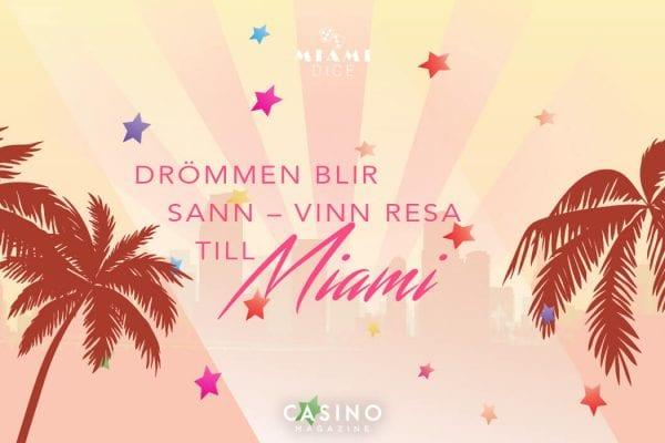Miami Dice, bild på palmer, vinn resa till Miami