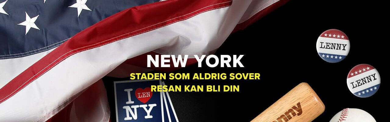 Superlenny casino vinn resa till New York, USA-flagga