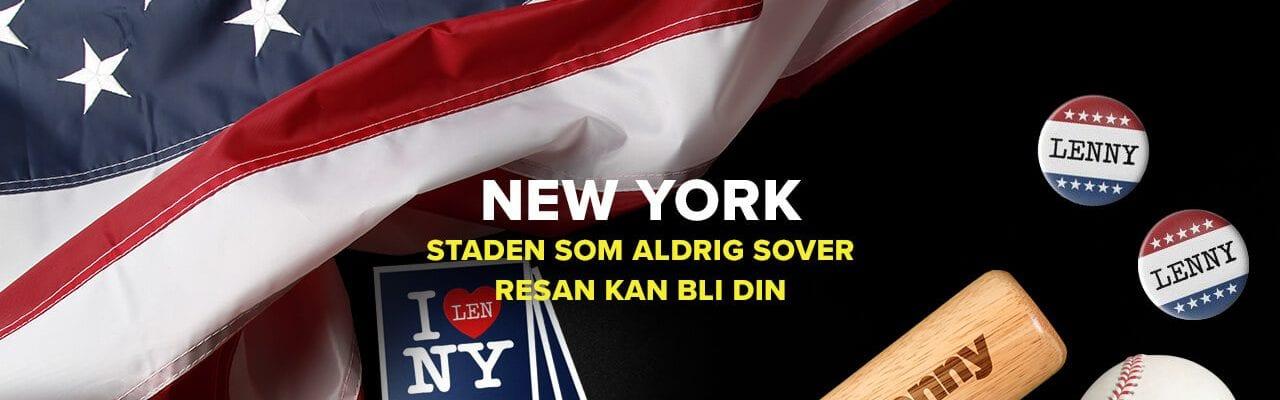 Superlenny casino vinn resa till New York, USA-flagga