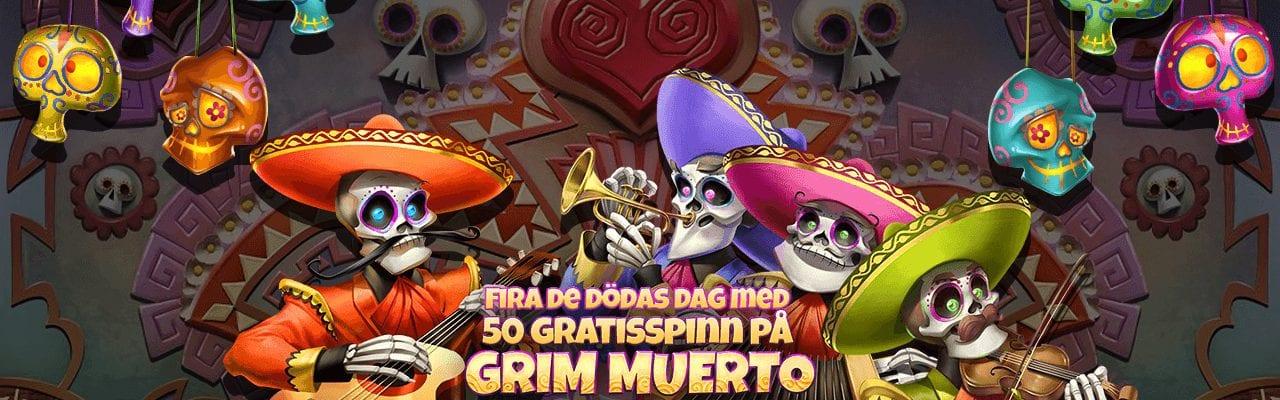 Betssons dagliga erbjudande med free spins i Grim Mouerto