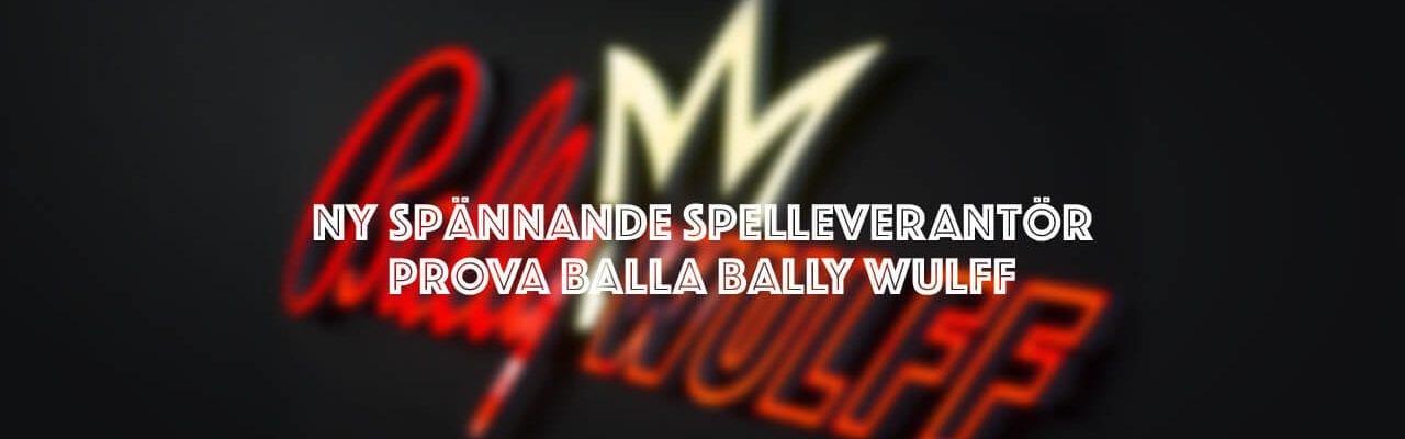 spelleverantör Bally Wullf ikon och text