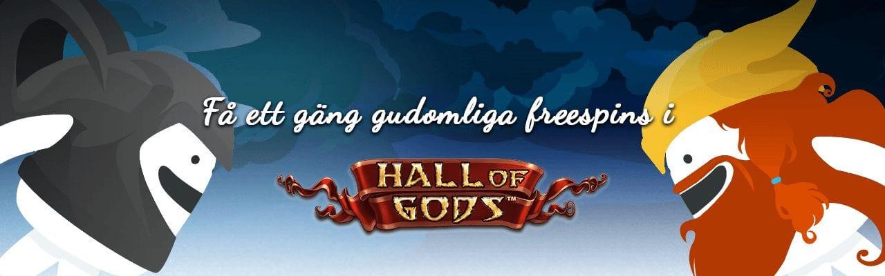 Casumos freespins erbjudande med free spins i hall of gods