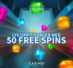 Casinoland erbjuder 50 free spins