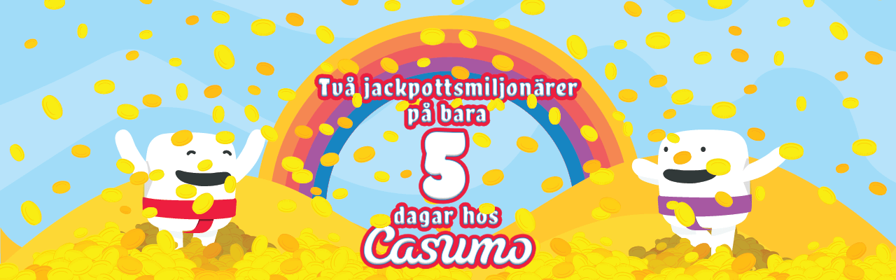 Casumos nyhet om två jackpottvinnare