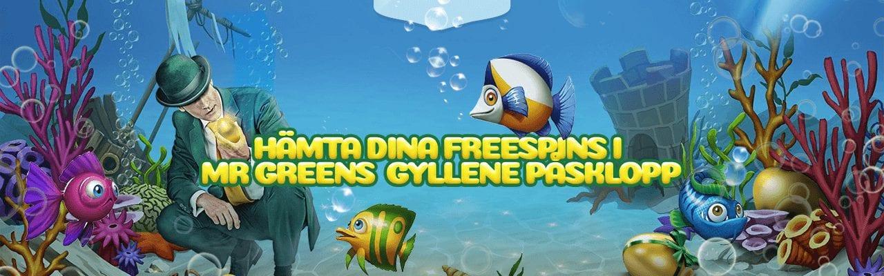Mr Greens påskerbjudande med free spins
