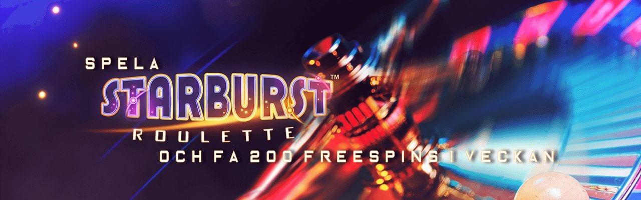 Spela Starburst Roulette och få 200 free spins i veckan hos Expekt