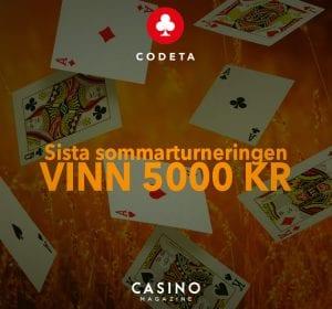 Codeta black jack turnering vinn casinobonus