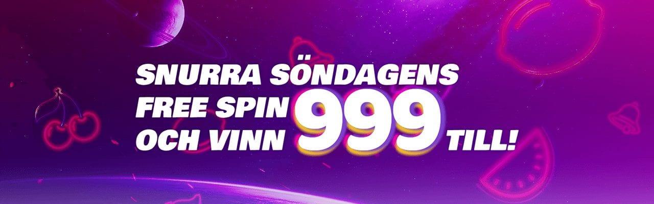Spela din gratis spin hos iGame och vinn 999 till på måndag
