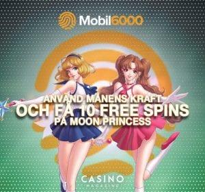 Magiska free spins hos mobil6000