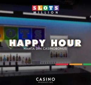 Slotsmillion Happy Hour fredagskampanj free spins