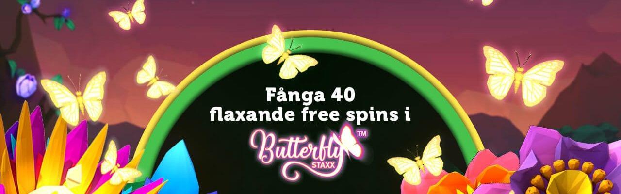 Få 40 free spins hos CasinoLuck