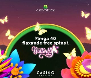 Få 40 free spins hos CasinoLuck