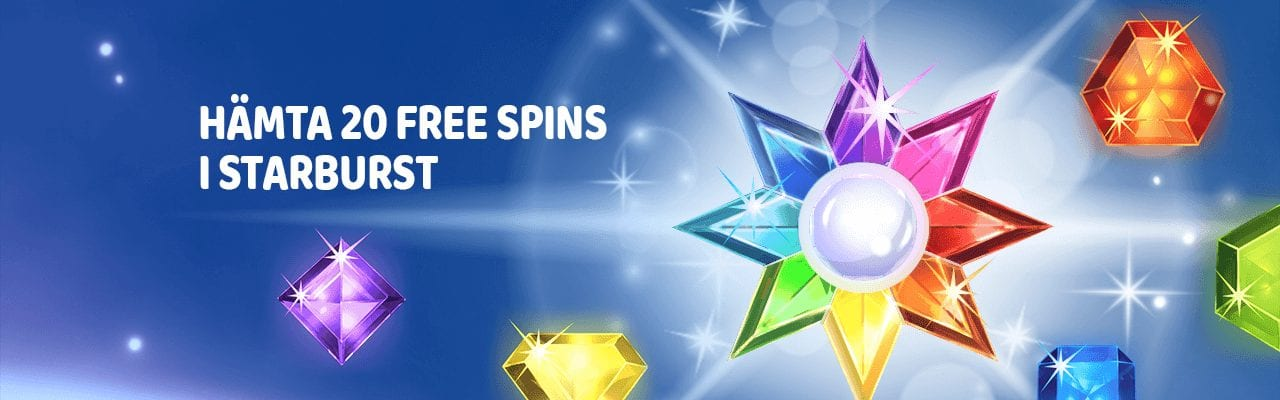 Spela hos NordicBet och få free spins i Starburst