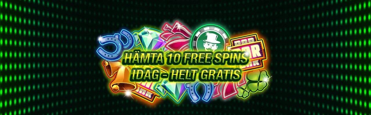 Gratis free spins hos SirJackpot