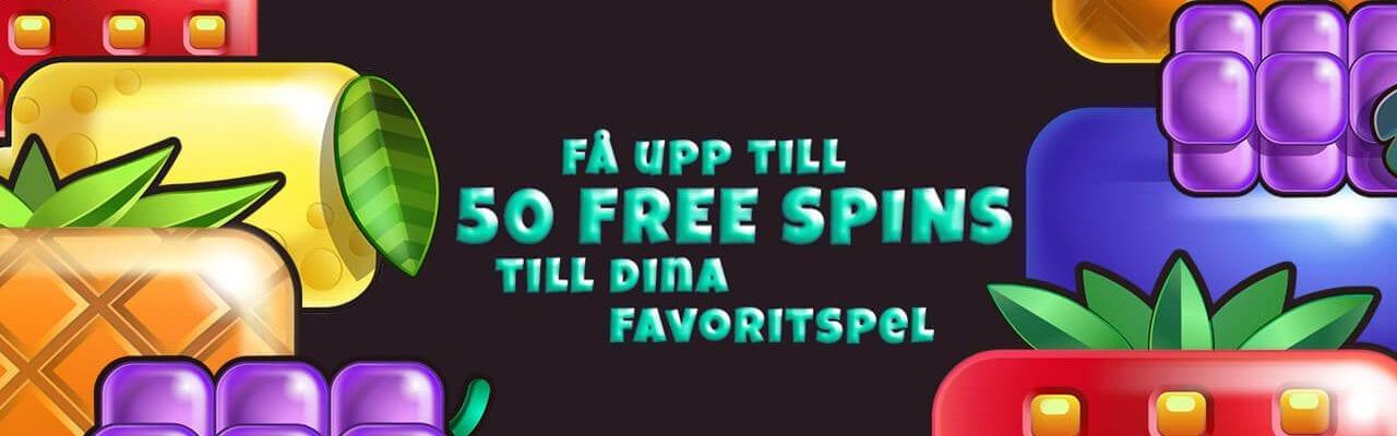 50 fruktiga free spins hos BetClic