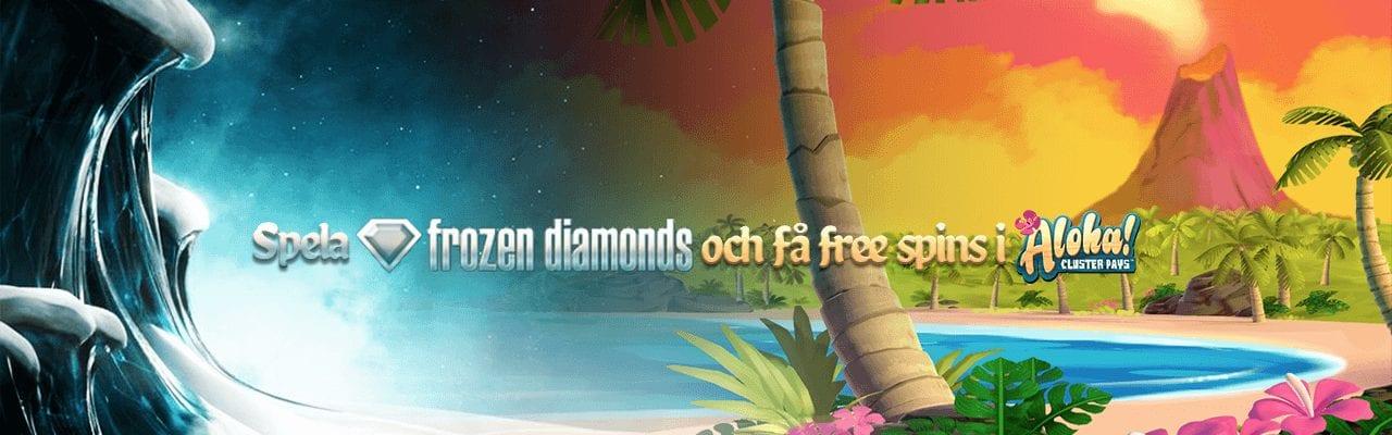 Mobilbets fredagserbjudande med free spins i Aloha! Cluster Pays.