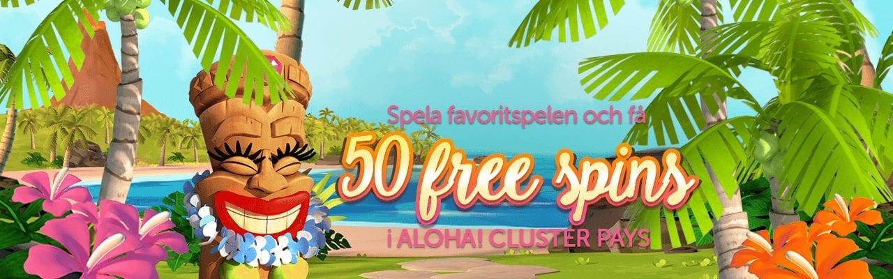 FÅ 50 free spins hos Spinson