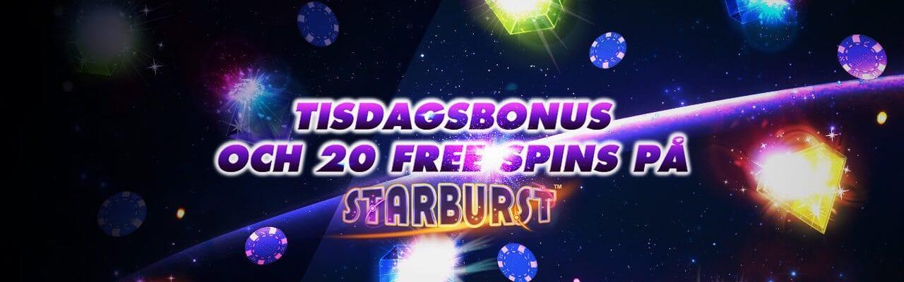 Tisdagsbonus och free spins hos 10Bet