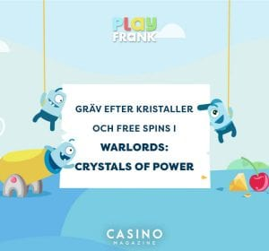 Gräv fram free spins hos PlayFrank