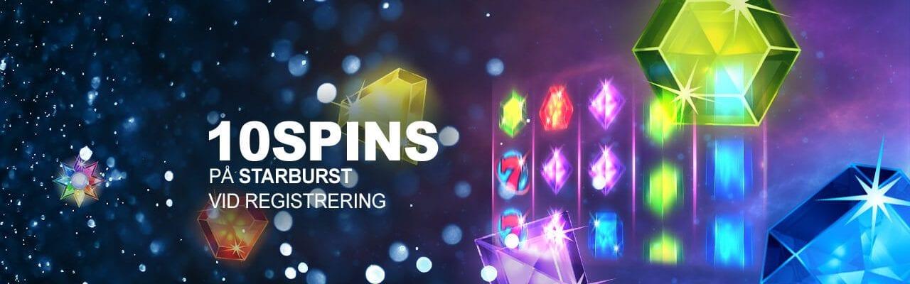 PlayClub Starburst gratis bonus vid registrering