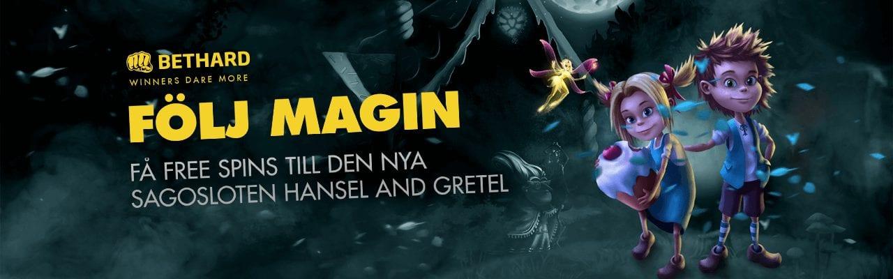 Bethards onsdagserbjudande med free spins i sagosloten Hans och Greta