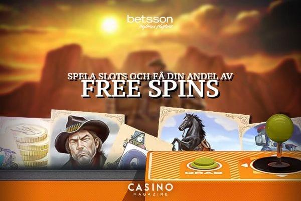 Betsson måndags free spins