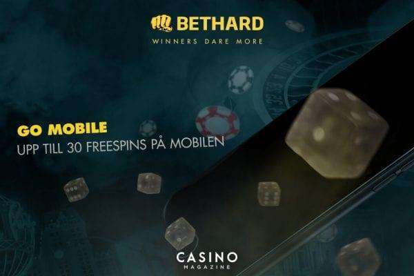 Bethard Go Mobile erbjudande free spins