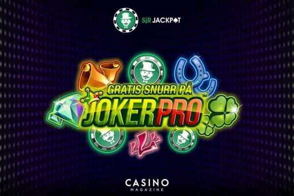 SirJackpot gratis free spins på Joker Pro spel