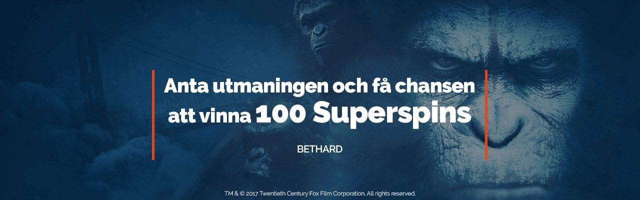 Vinn 100 Superspins hos Bethard