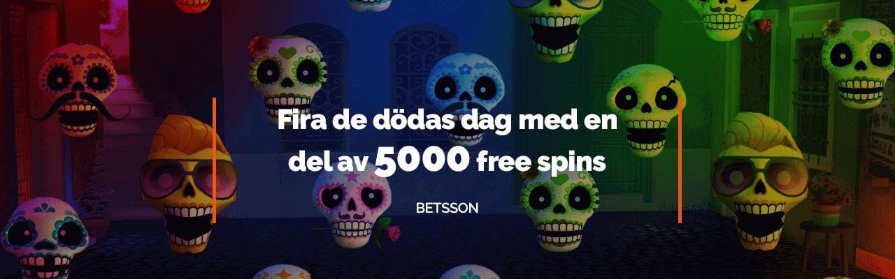 Betsson firar de dödas dag med free spins
