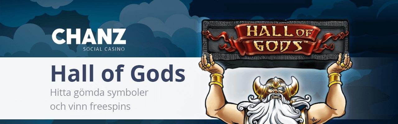 Chanz Social Casino Hall of Gods banner