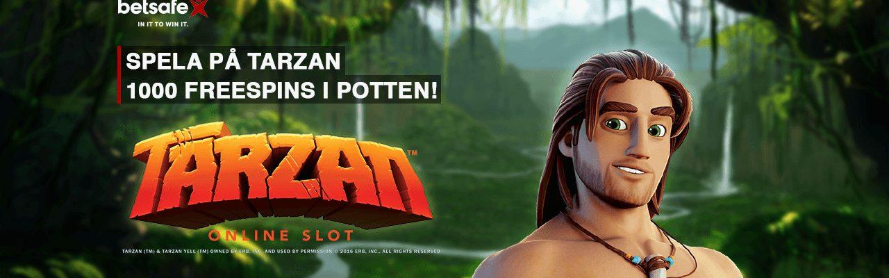 Betsafe Tarzan kampanj free spins banner