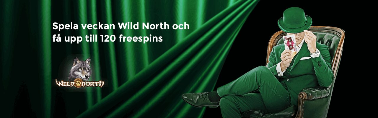 Mr Green kampanj freespins Wild North slot banner