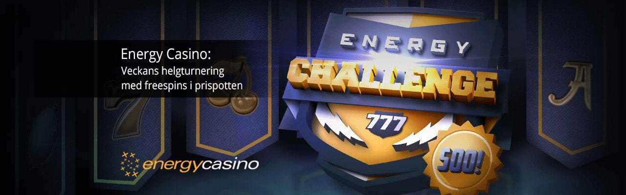 Energy Casino Challenge turnering banner casinomagazine