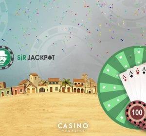 Sir Jackpots lördagserbjudande med free spins