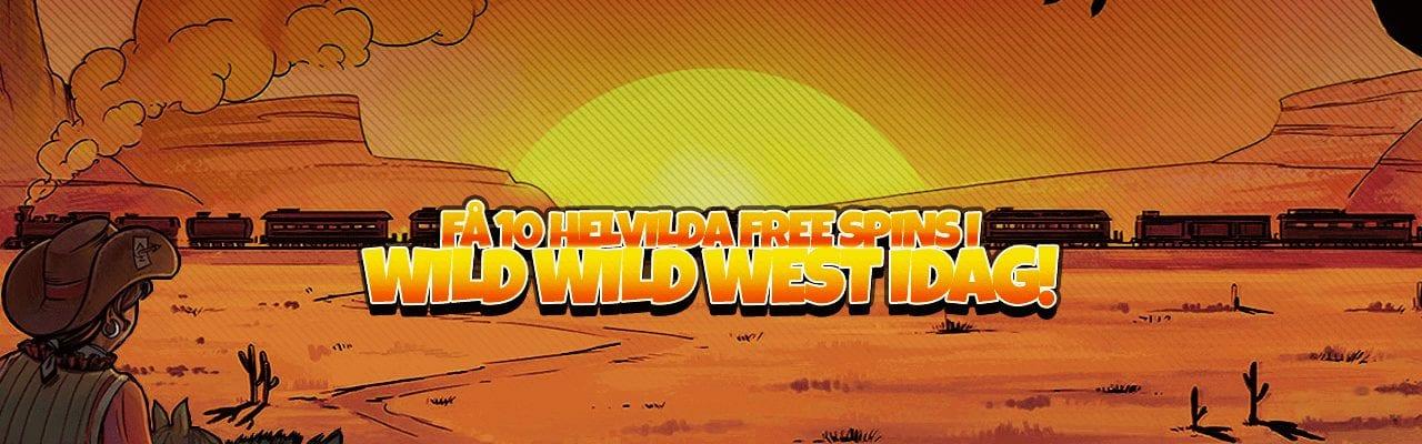Vinn 10 free spins till WIld Wild West