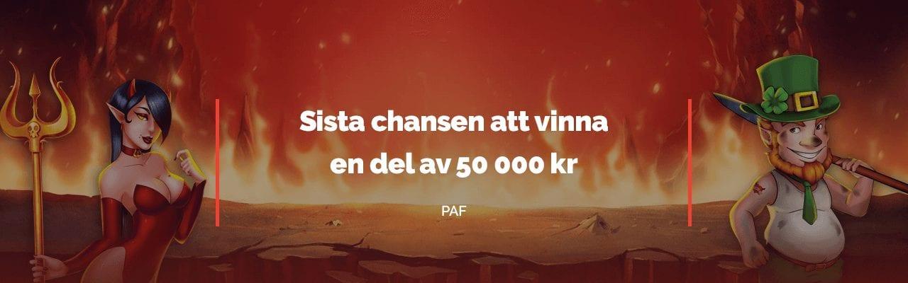 Sista chansen att vinna en del av 50000 kr hos Paf