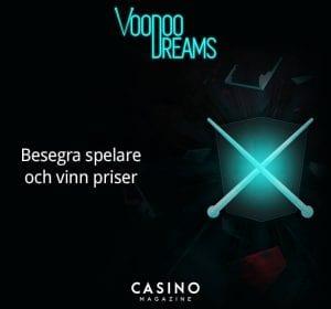 Voodoodreams banner nyhet duell i casinot mot andra spelare
