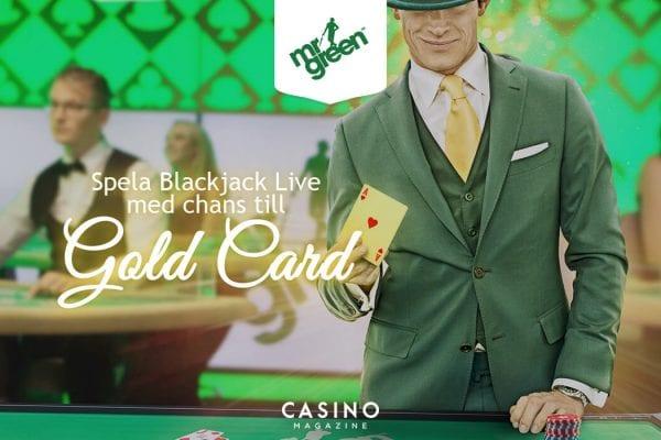 Mr Green gold card bonus