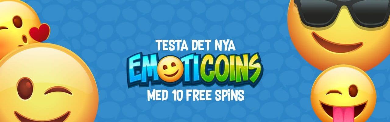 10 free spins till Emot Coins hos 10Bet