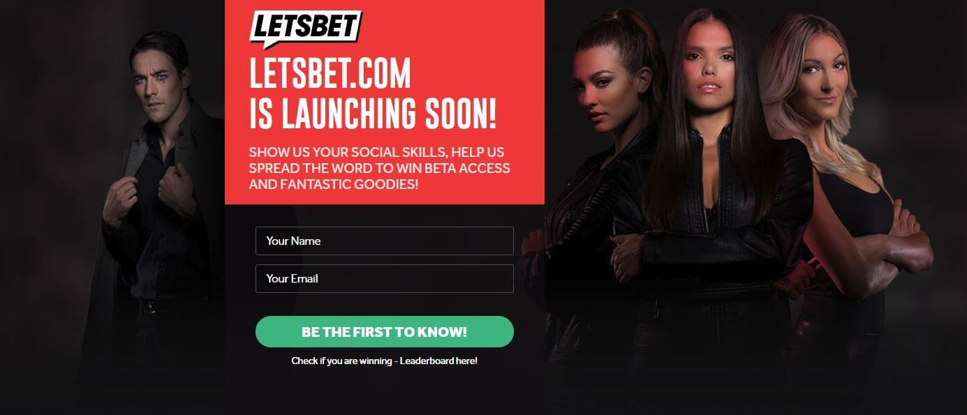 LetsBet lanseras 2018