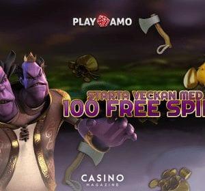 PlayAmo bjuder in till måndagens free spins-erbjudande